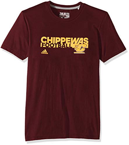 Adidas sideline grind football go-to performance s/tee, uomo, sideline grind football go-to performance s/s tee, maroon