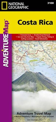 Costa Rica: Travel Maps International Adventure Map: NG.AM3100