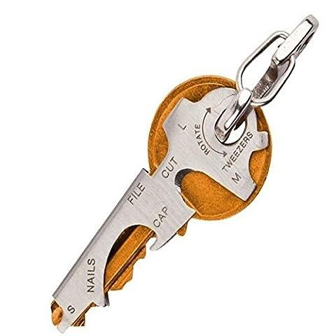 EDC 8 en 1 Décapsuleur Porte-clés Gadget multi-fonction Clé Pince