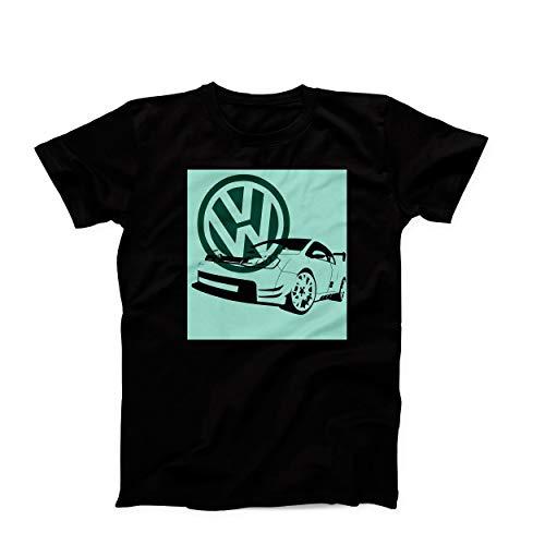 Volkswagen Golf GTI Autorennen Drift Drag Artwork Herren T-Shirt Small -