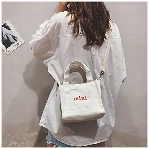 Noradtjcca Mädchen One-Shoulder- Mini Canvas Handtasche koreanischen Stil Umhängetasche Messenger Bag Casual Reisetasche für Mädchen -