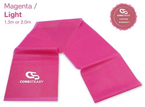 Coresteady Gymnastikbänder für Therapien | hochwertige Fitnessbänder für Pilates, Yoga und Training | Physiotherapie & Reha | Für Männer und Frauen | Übungsanleitung enthalten
