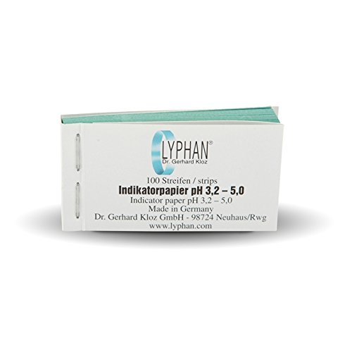 LYPHAN pH-Wert 3,2-5,0 Indikatorpapier 100 Test-Papier-Streifen