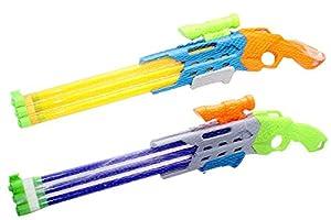 Kidz Corner - Arma de Agua con 3 cañas de 65 cm, Multicolor, 440095