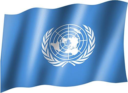 Flagge/Fahne UNO Hissflagge/Hissfahne mit Ösen 150x90 cm, sehr gute Qualität
