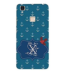 EPICCASE Blue Anchor Mobile Back Case Cover For VIVO V3 (Designer Case)