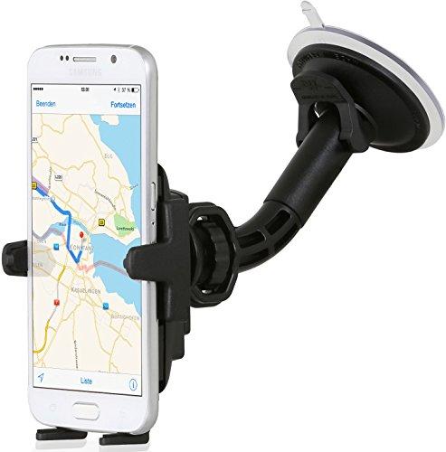 Wicked Chili KFZ Halterung mit Kugelgelenk für Samsung S8 / S7 / S7 Edge / S6 / S6 Edge / S5 / S4 / S3 / A3 2017 / A5 2017 / J5 Autohalterung (Made in Germany, für Bumper & Case)