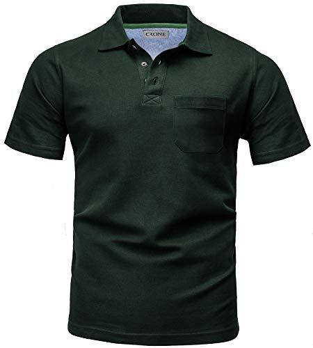 cb7141adbaa7f7 CRONE Basic Herren Pique Poloshirt Regular Fit mit Brusttasche (XXXL