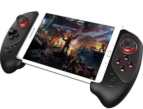 PowerLead Manette de Jeu sans Fil, Upgraded Wireless Gamepad Manette de Jeu rétractable sans Fil Pratique et Extensible Pad pour iOS et Android- Jeu Direct