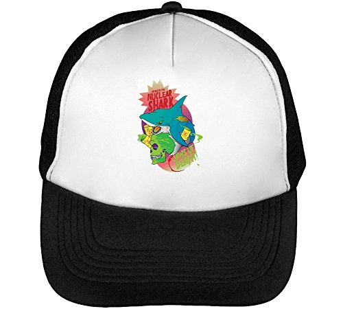 Preisvergleich Produktbild Nuclear War Men's Baseball Trucker Cap Hat Snapback Black White