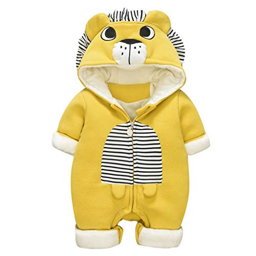 Binggong Baby Jungen Overalls 3-24Monate Jumpsuit Bear Shape Romper Playsuit Outfits Strampler Winter Fleece Spielanzug -