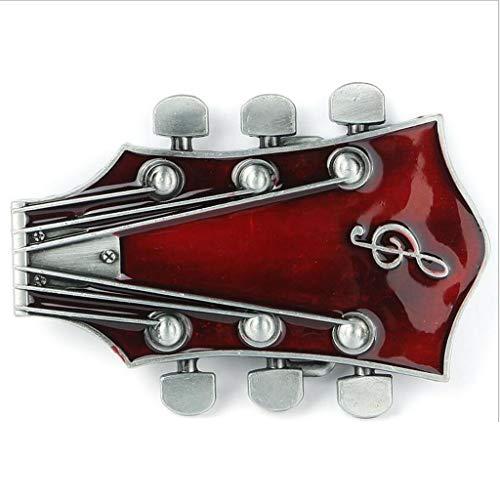 JINGJING Oeste Hombres Aleación de Zinc Hebilla del cinturón Música Guitarra Hebilla del cinturón Hip Hop Retro Hebilla de Placa