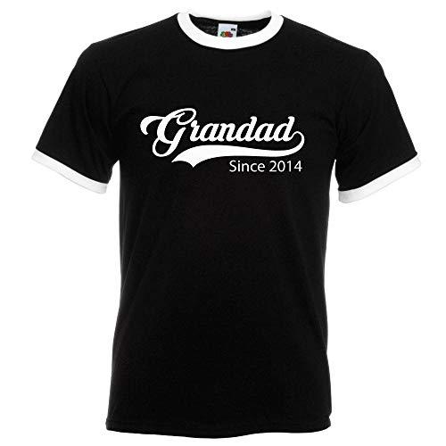 Personnalisé Grandad Depuis T-Shirt Noir Dessus Blanc du S au XXL personnalisé à Capuche pour fête des pères Noël Cadeau d'anniversaire Cadeau - Noir