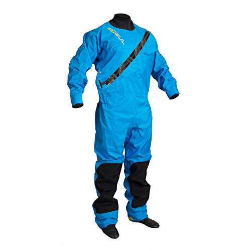 GUL Dartmouth ECLIP Zip Drysuit Dry Suit in Blau - mit freiem Undersuit - Wärme verschweißte Nähte und 3 Schicht - Stoff