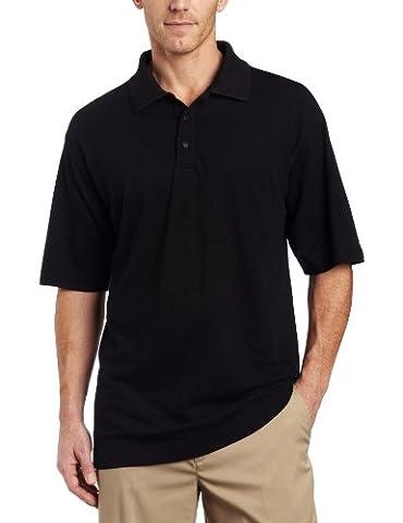 Cutter & Buck Men's DryTec Championship Polo Shirt, Black, X-Large