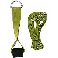 Homyl 1 Unidad de Correa de Estiramiento + 1 Unidad de Ancla de Puerta Hecho de Material Algodón Colores Opcionales - Verde