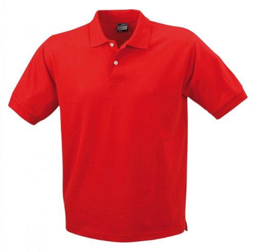 Kurzärmeliges Herren-Poloshirt mit hohem Tragekomfort Red
