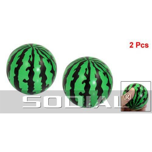 """Preisvergleich Produktbild SODIAL(R) Kinder Schaum Squeeze Stress Schwamm gr¨¹n Schwarz 2,3"""" Dmr Wassermelonen Kugelspielzeug 2 St¨¹ck"""