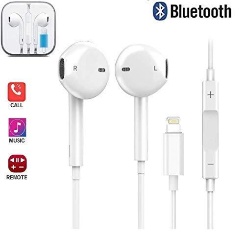 Kopfhörer, In Ear Stereo Kopfhörer mit mikrofon und Lautstärkeregelung Bass Kopfhörer Kompatibel für iPhone 7/7 Plus / 8/8 Plus/X (Bluetooth Konnektivität)
