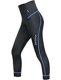 08493b309e883 Skysper Legging de Sport Femme avec 3D Éponge Coussin Séchage Rapide  Respirant Imperméable Confortable 3