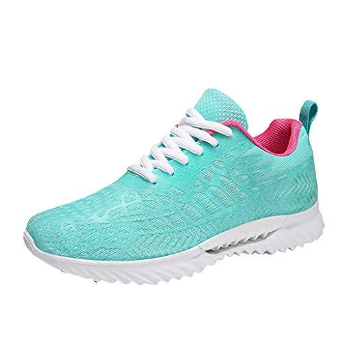 Chenang Damen Atmungsaktiv straßenlaufschuhe Fitnessschuhe Sportschuhe Turnschuhe Laufschuhe Knit Schnüren Sommerschuhe Sneakers - Zumba 360