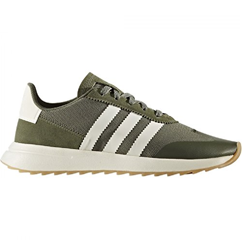 adidas Damen FLB Sneaker Grün Oliv/weiß, 36 EU