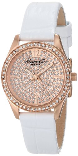 kenneth-cole-new-york-womens-kc2844-classic-rose-gold-case-stone-dial-bezel-white-strap-watch