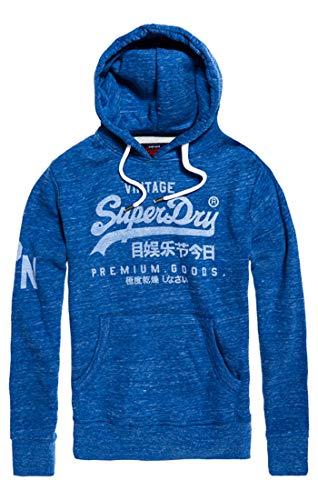 Superdry Herren Pullover Premium Goods Hood, Blau (Urban Royal Grit Lv8), XX-Large (Herstellergröße: 2XL)