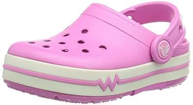 Crocs Lights Ps, Sabots mixte enfant - Rose (Party Pink),  EU 24-25 (C8)
