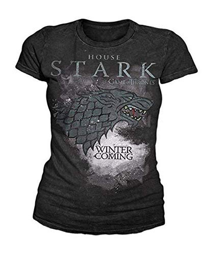 Game of Thrones - TV Serien Logo Damen T-Shirt - House Stark (S-L) ()