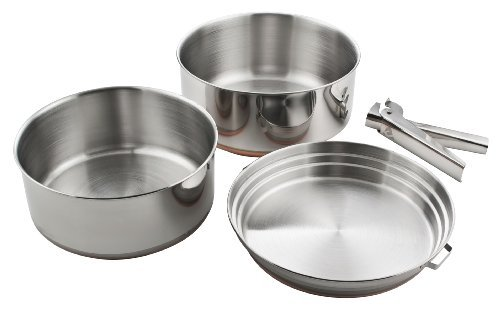 Chinook Plateau 3 Piece Stainless Steel Cookset by Chinook 3 Piece Cookset