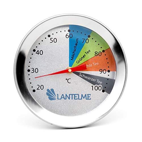 Tee Edelstahl mit Thermometer Analog-Wasser für das thé-teethermometer für Trinkflaschen und Tassen mit Clip