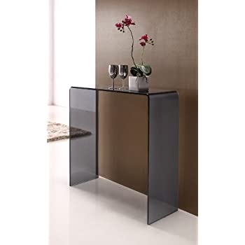 new styles bdc7e dd9c2 interiorsonline Smoked Glass Console Table Small