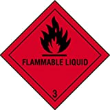 Juego 4 Etiqueta de Señalización IMDG-ADR Clase 3: Flammable Liquid 300x300 mm
