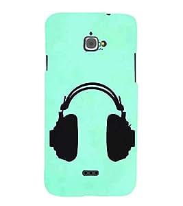 FUSON Headphones Vector Illustration Music 3D Hard Polycarbonate Designer Back Case Cover for InFocus Bingo 50
