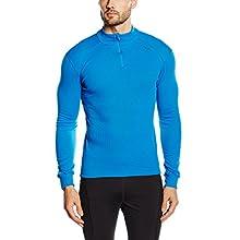 Odlo BL Top Turtle Neck l/s Half Zip Active Warm Haut Homme, Directoire Blue, FR : M (Taille Fabricant : M)