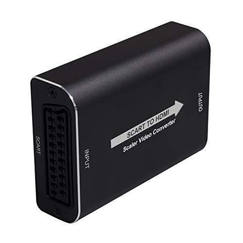 Scart zu HDMI Konverter Tiancai 1080P SCART auf HDMI Video Audio Adapter für HDTV STB PS3 Sky DVD Blu-ray Set-Top-Box HD-Player usw (L-S-H) - 60 Hz Direct Led Hdtv