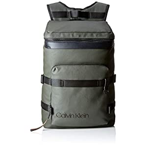 414UIo7QFtL. SS300  - Calvin Klein Jeans - City Active Fashion Backpack, Mochilas Hombre, Gris (Grey/Rusted Brick), 17x52x32 cm (B x H T)