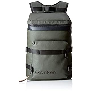Calvin Klein Jeans – City Active Fashion Backpack, Mochilas Hombre, Gris (Grey/Rusted Brick), 17x52x32 cm (B x H T)