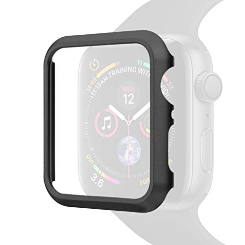 SLEO Hülle für Apple Watch Hülle 44mm iWatch Schutzhülle Ultra Slim Metall Protective Überzug Tasche Case für New Apple Watch Series 4 -Schwarz