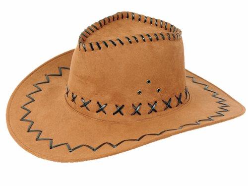 Cowboyhut Cowboy hellbraun Kunstsamt Hut Hüte Kostümzubehör 03 (Verwendet Cowboy-hüte)