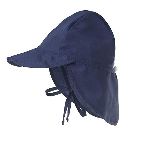 Boomly Baby Sonnenhut Schirmmütze mit Nackenschutz Anti-UV Hut Baumwolle Atmungsaktiv Strandhut Sommer Outdoor Schutz ()