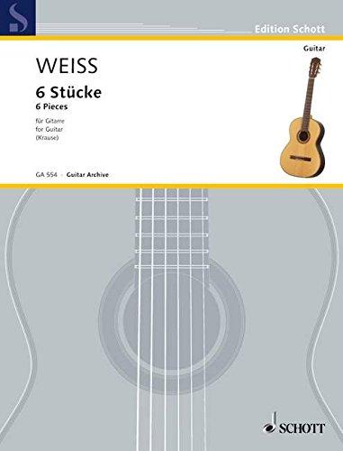 6 Stücke: Gitarre. (Edition Schott)