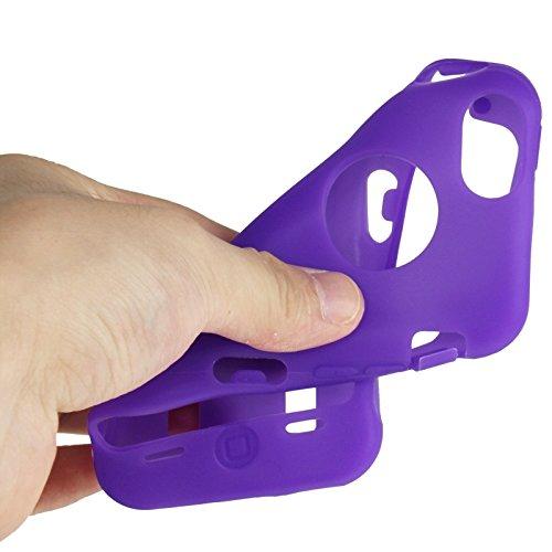 Wkae Case & Cover Anti-rayures en plastique + Housse en silicone combiné pour iPhone 5C ( Color : Purple ) Purple
