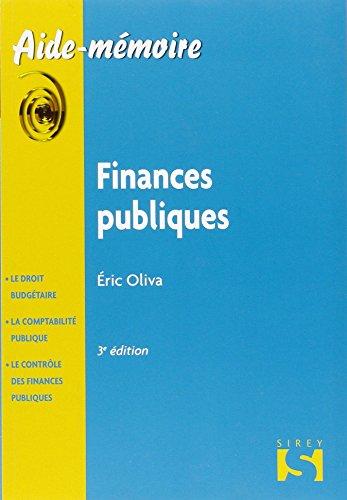 Finances publiques - 3e éd.: Aide-mémoire Sirey
