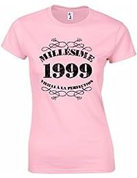 T-Shirt Anniversaire 18 Ans Femme Millésime 1999