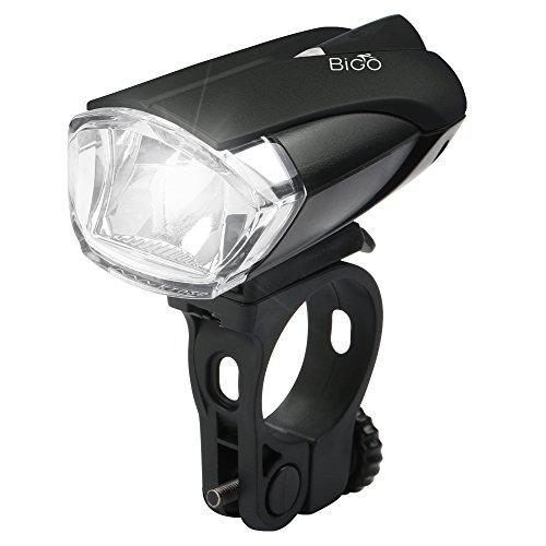 LED Fahrradbeleuchtung, BIGO StVZO Zugelassen Fahrradlicht USB Wiederaufladbere Wasserdicht Fahrradlichter Fahrradlampen Frontlicht, 1200mAH, Starkes / Schwaches Licht Fahrradleuchte