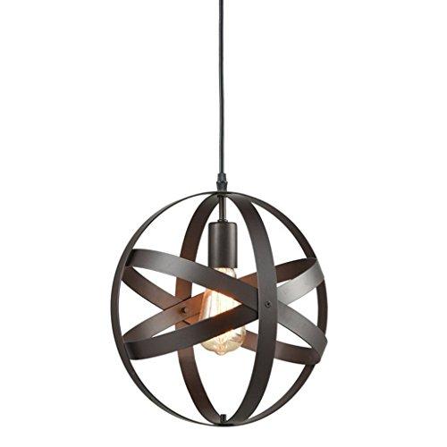H.L Restaurant Kronleuchter Pendelleuchte Beleuchtung Industrielle Kugel Metall Globe Kronleuchter Durchmesser 30cm Pendelleuchte (Globes Deckenventilator Vintage)