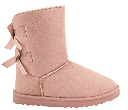 Elara Winter Boots | Bequeme Damen Stiefel | Schlupfstiefel | Chunkyrayan S129-Pink-39