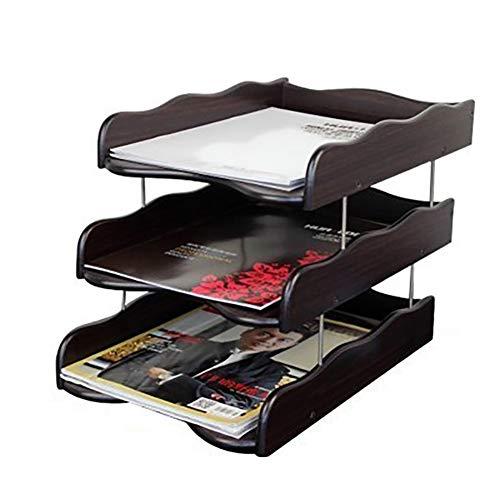 ZWH-Cassettiera da Ufficio Schedario, Cartella Del Desktop, Rack Di Archiviazione Dati In Legno Creativo, Cartella Dati Di Office (Size : #6)